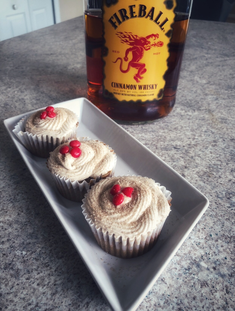 Fireball Spiced Cupcakes